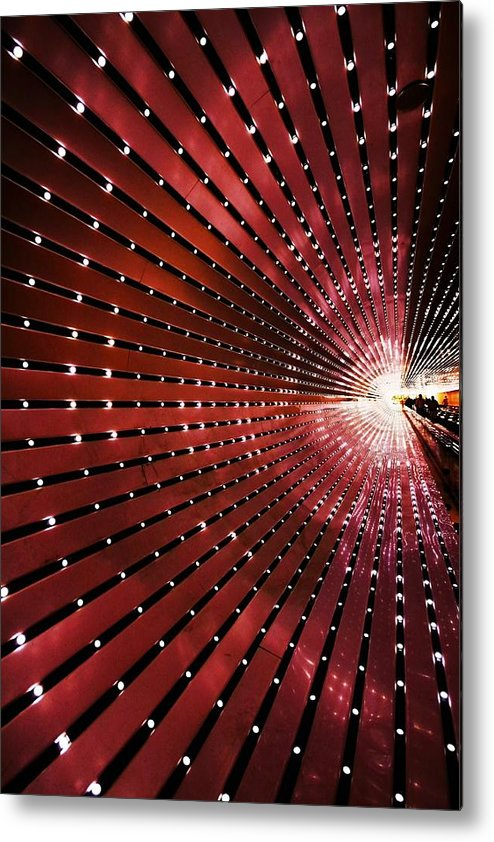 Tunnel Metal Print featuring the photograph Into The Light by Mitch Cat