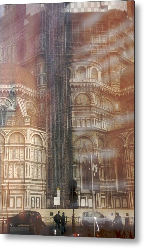 Architecture Metal Print featuring the photograph Italy, Florence, Duomo And Campanile by Keenpress