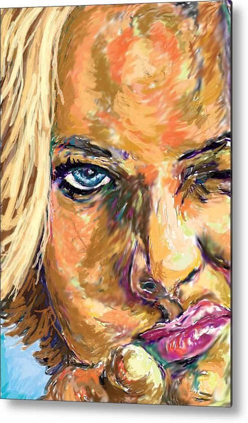 Jaime Pressly Metal Print featuring the painting Jaime Pressly by Travis Day
