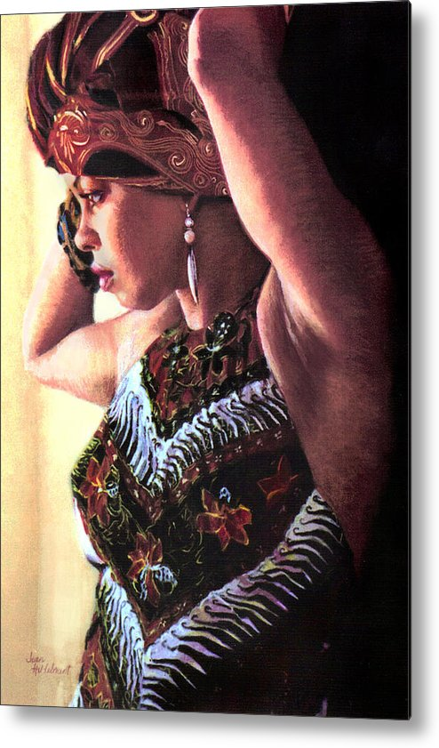 Jamaican Woman Metal Print featuring the painting Jamaican Woman by Jean Hildebrant