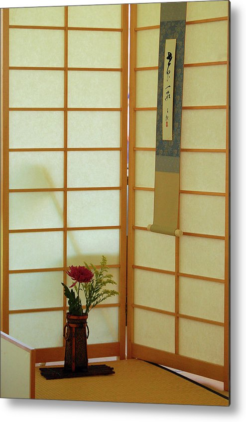 Asia Metal Print featuring the photograph Japanese Tea House by James Kirkikis