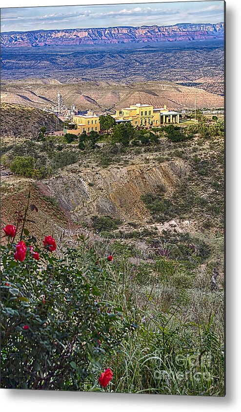 Jerome's Douglas Mansion Metal Print featuring the photograph Jerome's Douglas Mansion by Priscilla Burgers