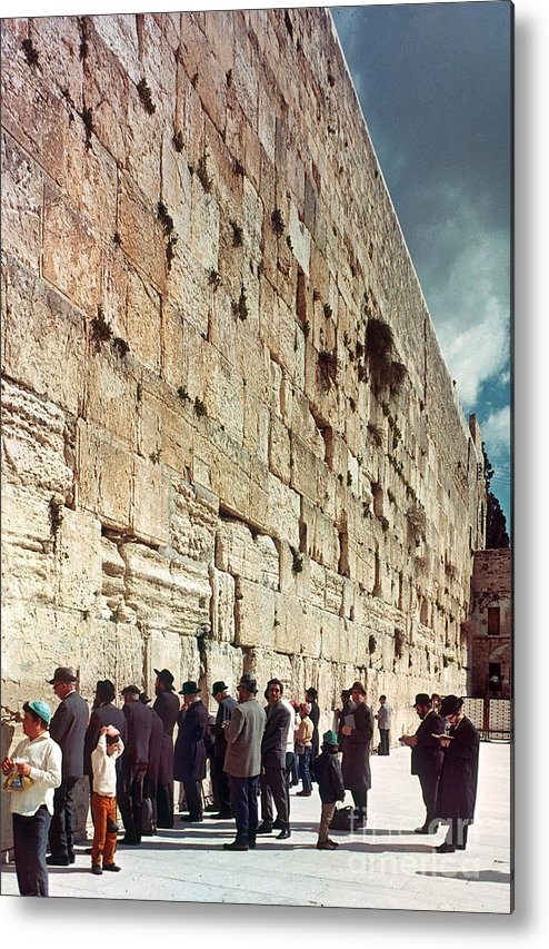 20th Century Metal Print featuring the photograph Jerusalem Wailing Wall - To License For Professional Use Visit Granger.com by Granger
