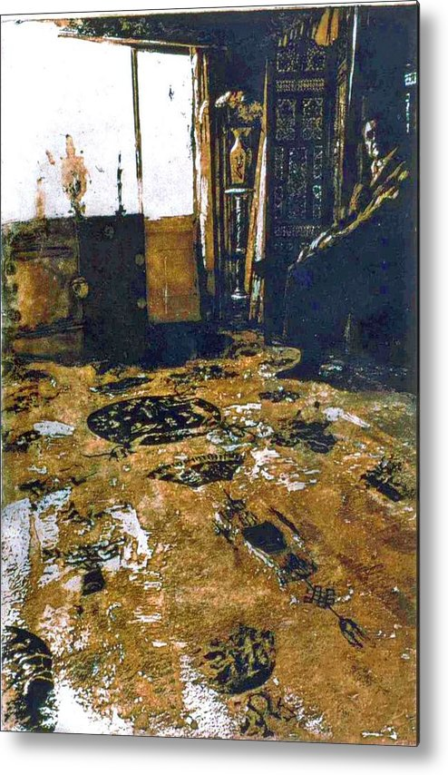 Oriental Metal Print featuring the mixed media Joes Rug by Randy Sprout