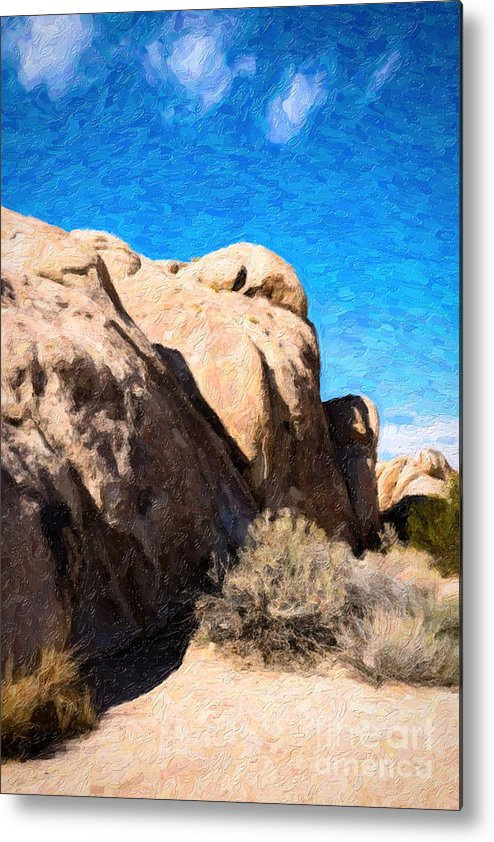 Desert Metal Print featuring the photograph Joshua Tree Ca 4 by Stefan H Unger