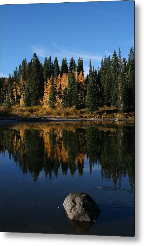 Lake Metal Print featuring the photograph Jumbo Lake In The Fall by Kenton Shaw