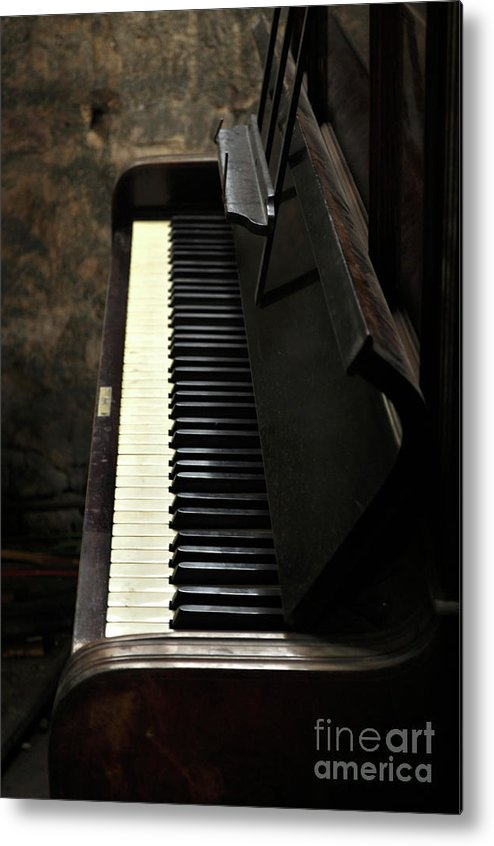 Piano Metal Print featuring the photograph Keys To The Music by Dominique De Leeuw