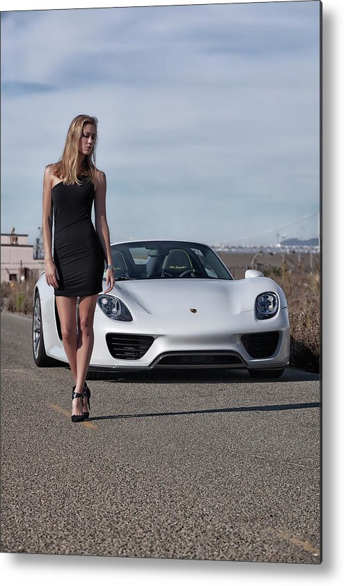 Kim Metal Print featuring the photograph #kim And #porsche #918spyder #print by ItzKirb Photography