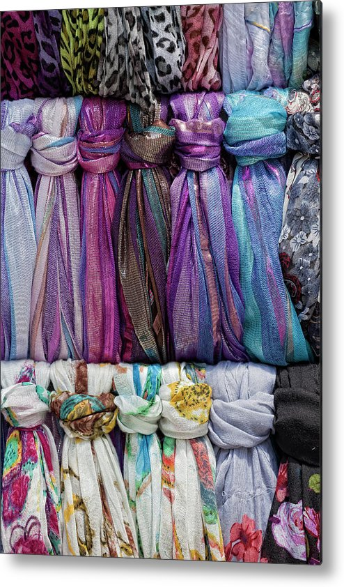 Fabric Metal Print featuring the photograph Knotted Scarves by Robert Ullmann