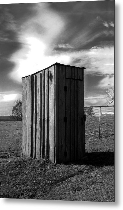Ansel Adams Metal Print featuring the photograph Koyl Cemetery Outhouse by Curtis J Neeley Jr
