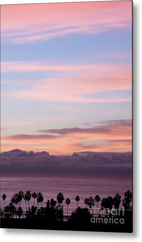 Nature Metal Print featuring the photograph La Jolla Shores In California by Julia Hiebaum