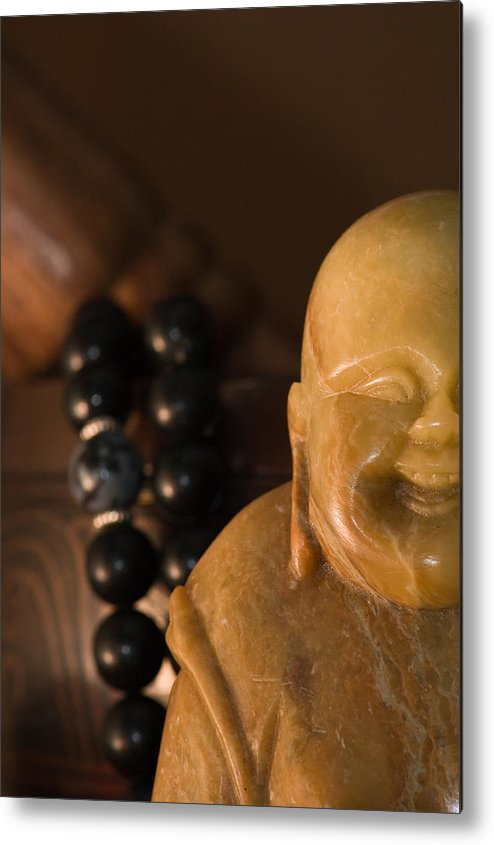 Buddhist Metal Print featuring the photograph Laughing Buddha by Edward Myers