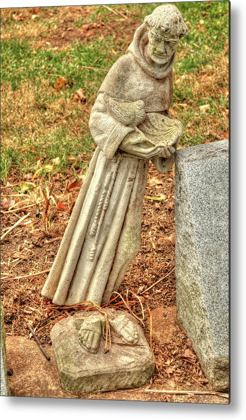 Illinois Metal Print featuring the photograph Leaning Monk by Deborah Smolinske