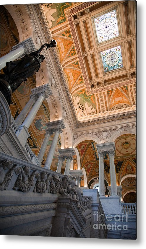 American Metal Print featuring the photograph Library Of Congress Vii by Irene Abdou
