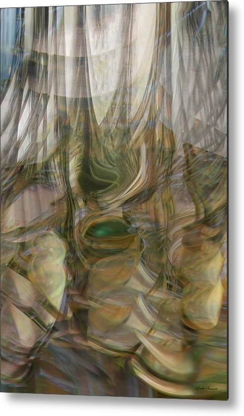 Abstract Art Metal Print featuring the digital art Life Forms by Linda Sannuti