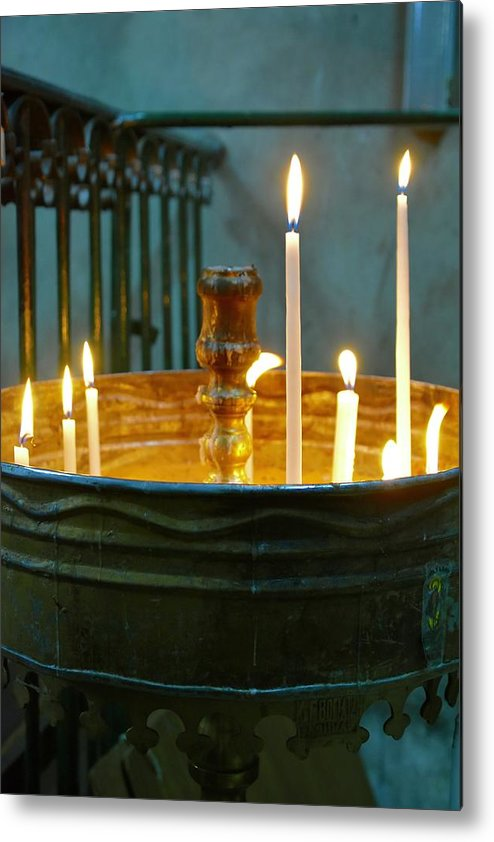 Candle Metal Print featuring the photograph Light A Candle by Barbara Stellwagen