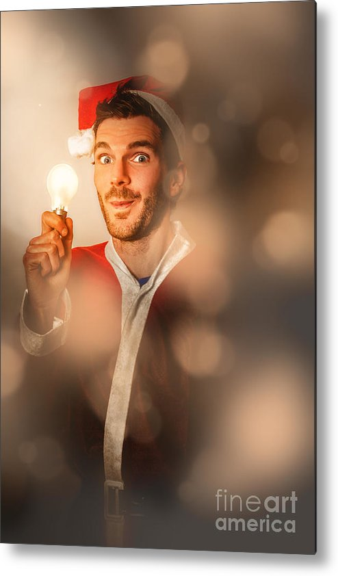 Christmas Metal Print featuring the photograph Lights Of Christmas Ideas by Jorgo Photography - Wall Art Gallery