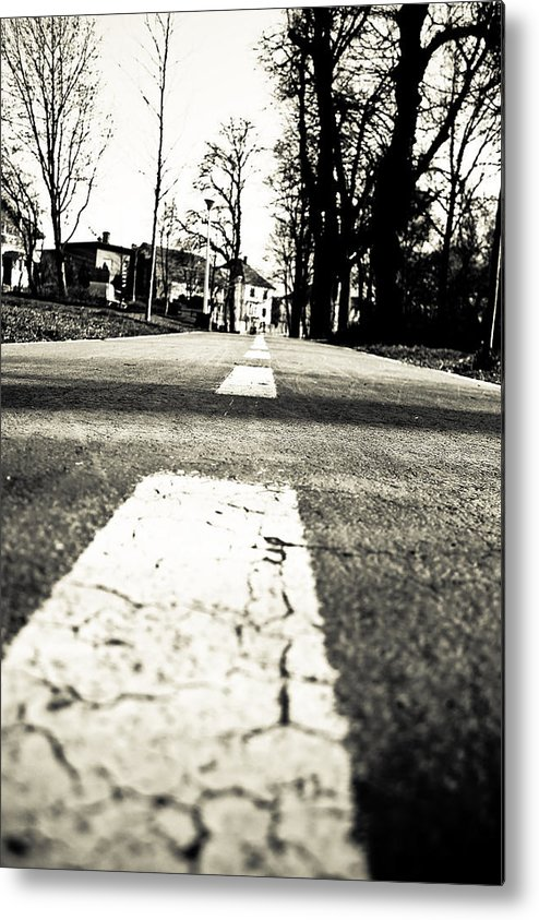 Street View Metal Print featuring the photograph Lines by Buta Gabriel