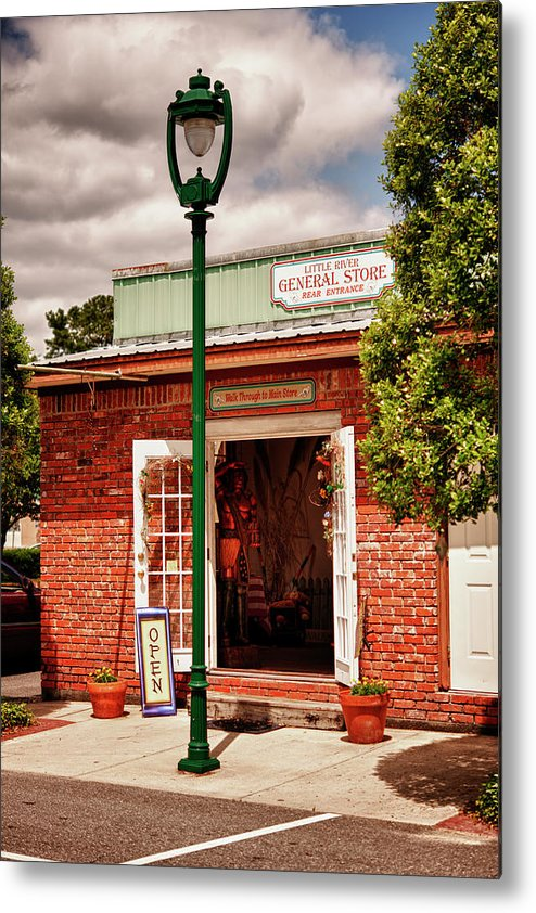 Hdr Metal Print featuring the photograph Little River General Store by Frank Feliciano