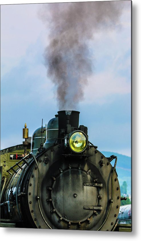 One Of Two Typical Switch Engines In The Steamtown Nhs Collection (the Other Is The Spang Metal Print featuring the photograph Locomotive 26 Steamtown by William Rogers