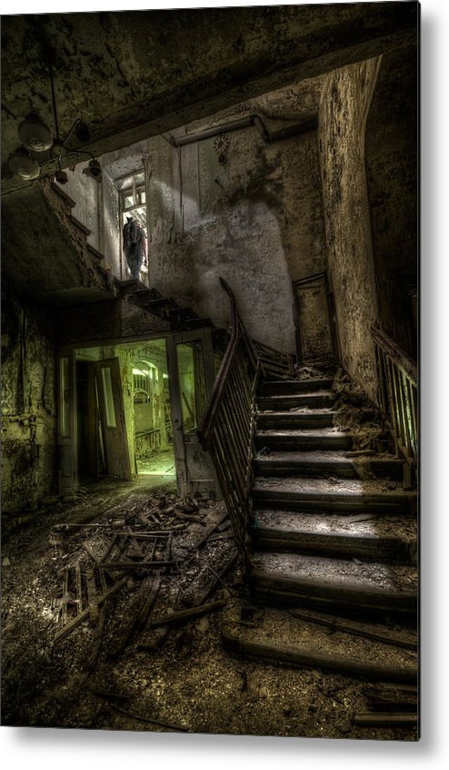 Urbex Metal Print featuring the digital art Lone Warrior  by Nathan Wright