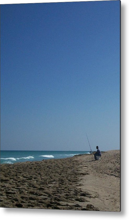 Surf Metal Print featuring the photograph Loner by Karen Thompson