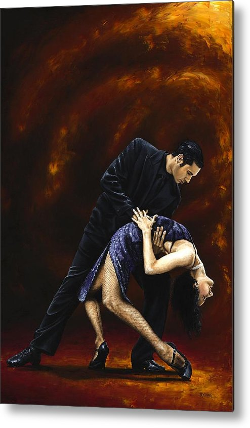 Tango Metal Print featuring the painting Lost In Tango by Richard Young