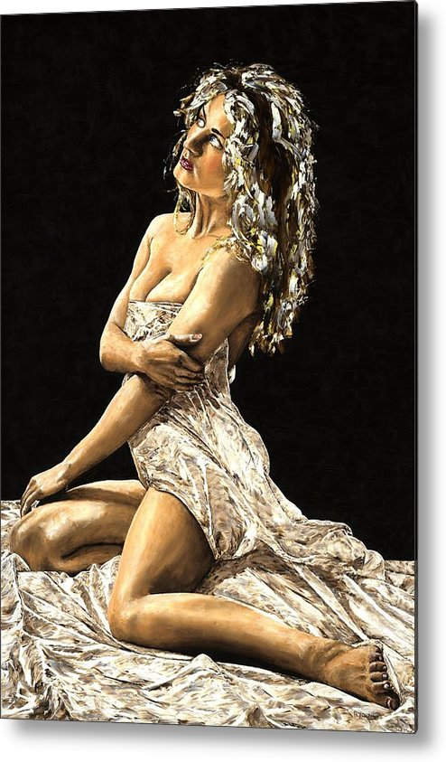 Nude Metal Print featuring the painting Luminous by Richard Young