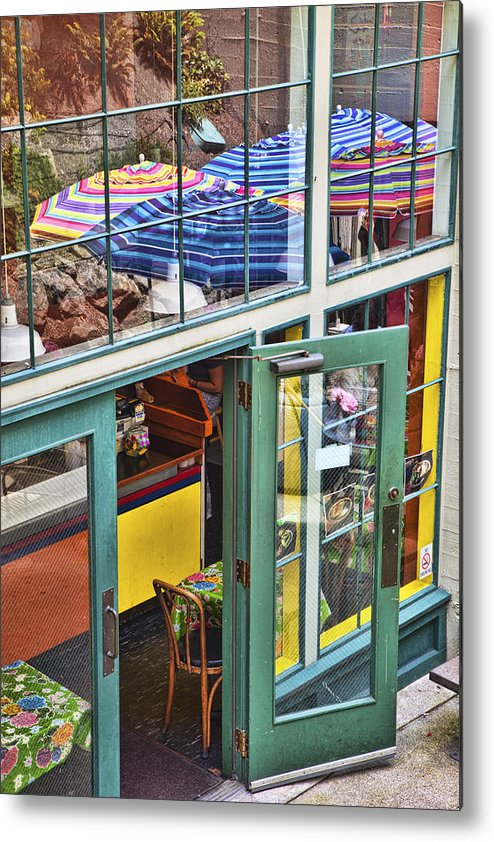 Colorful Metal Print featuring the photograph Lunchtime At The Market by Eggers Photography