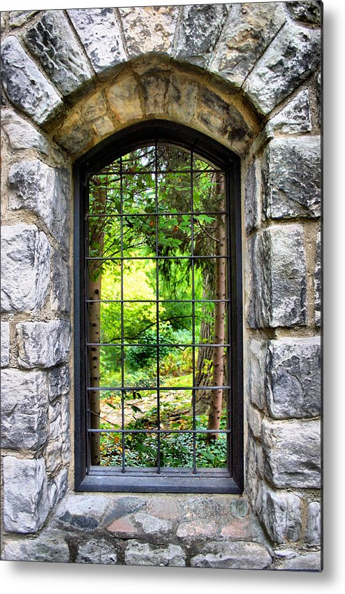 Stone Metal Print featuring the photograph Lushness Beyond The Walls by Kristin Elmquist
