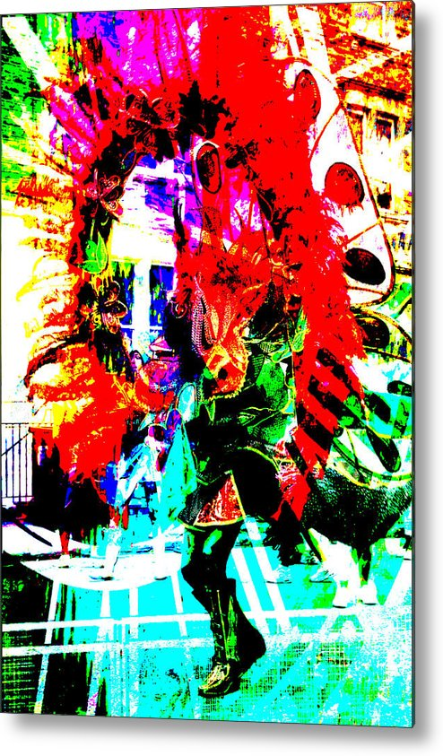 Abstract Metal Print featuring the photograph Madi Gras by Brian Roscorla