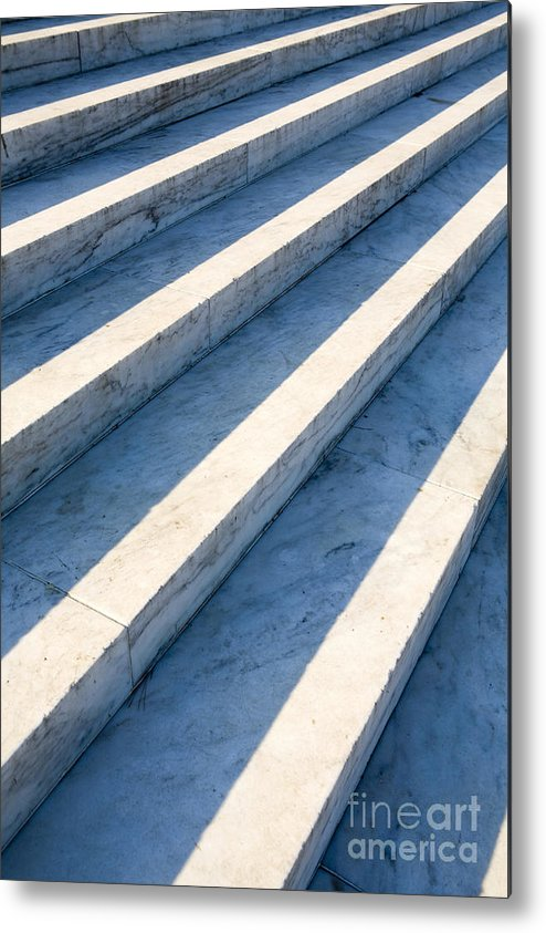 Architectural Detail Metal Print featuring the photograph Marble Steps, Jefferson Memorial, Washington Dc, Usa, North America by Paul Edmondson