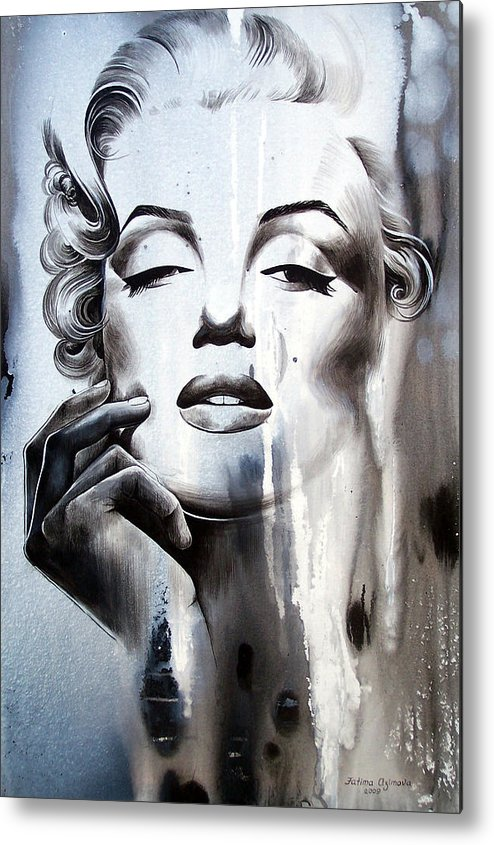 Marilyn Monroe Metal Print featuring the painting Marilyn Monroe by Fatima Azimova