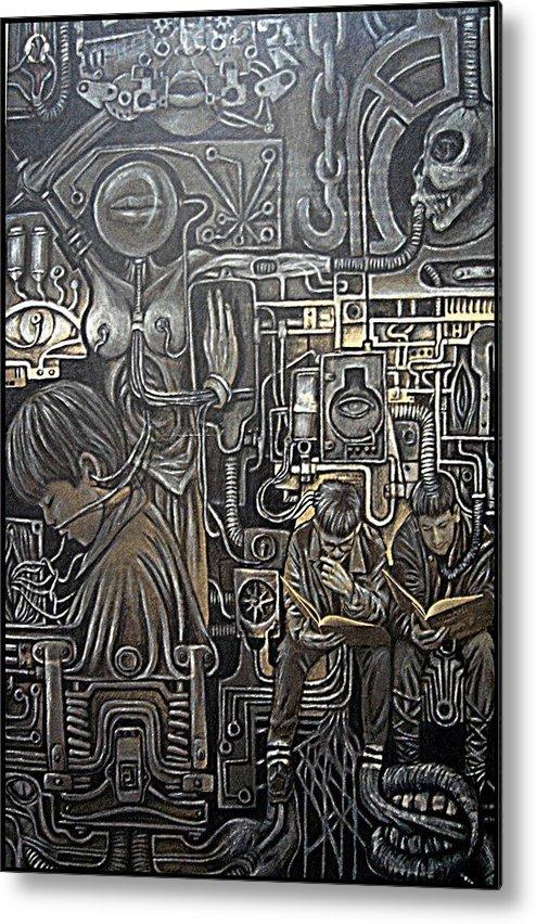 Mechanized Metal Print featuring the digital art Mechanized by Paulo Zerbato