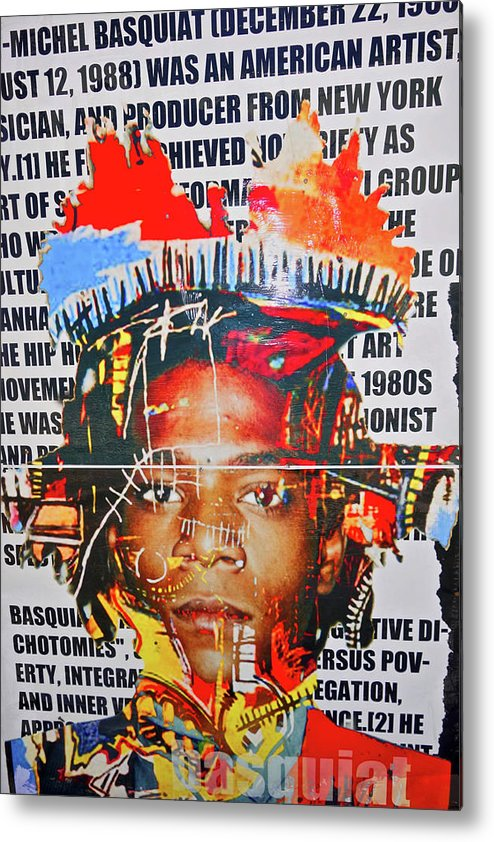 Michel Basquiat Wall Art Metal Print featuring the photograph Michel Basquiat by Joan Reese