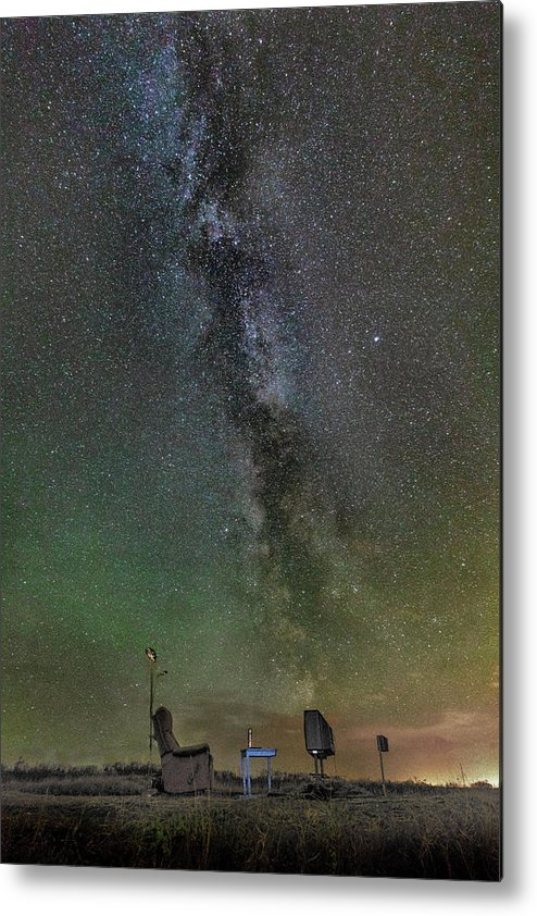 Iceland. Northern Lights Metal Print featuring the photograph Milky Way by Bragi Kort