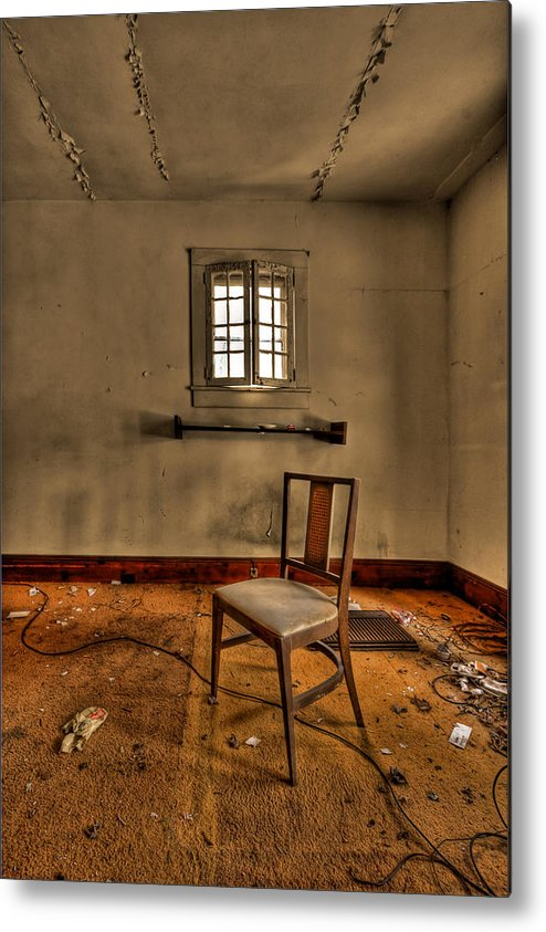 Abandoned Metal Print featuring the photograph Misery Needs Company by Evelina Kremsdorf