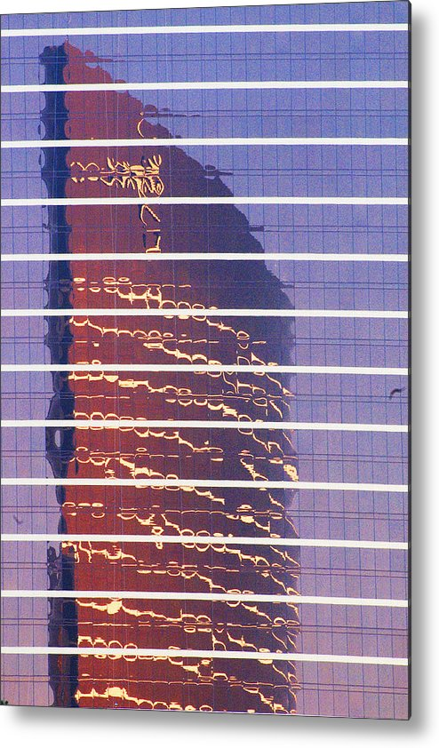 Cityscape Metal Print featuring the photograph Modern Reflections In Sin City by Richard Henne