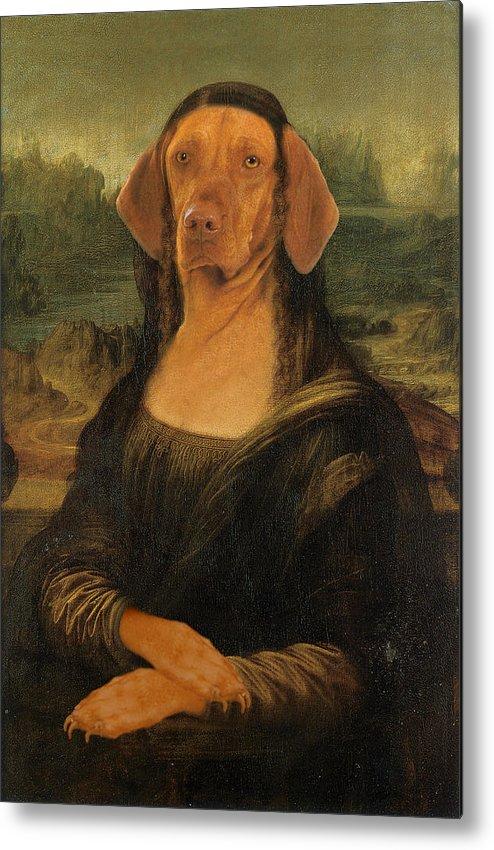 Mona Lisa Metal Print featuring the digital art Mona Visla by Galen Hazelhofer