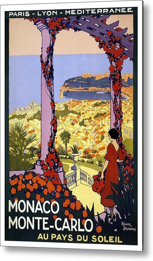 Monaco Metal Print featuring the painting Monaco, Monte Carlo, View From Hotel Terrace by Long Shot