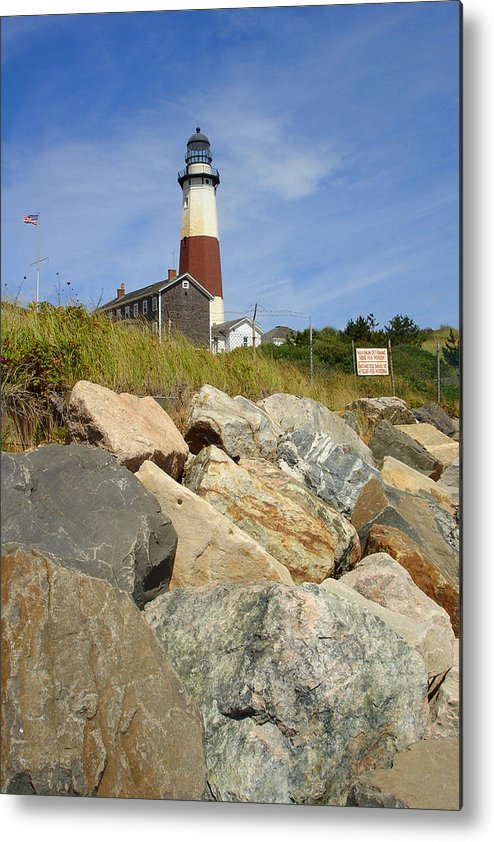 Montauk Metal Print featuring the photograph Montauk Lighthouse 2 by Michael Simeone