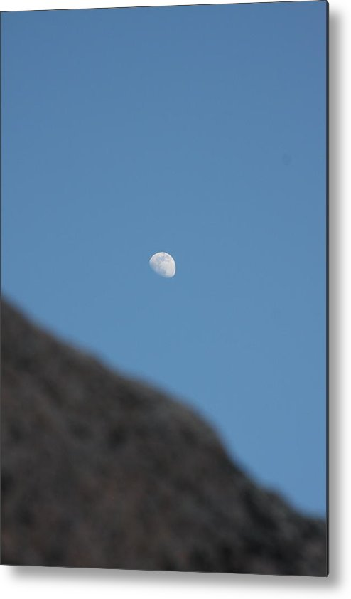 Moon Metal Print featuring the photograph Moon Over Granite by Jonathan Kotinek