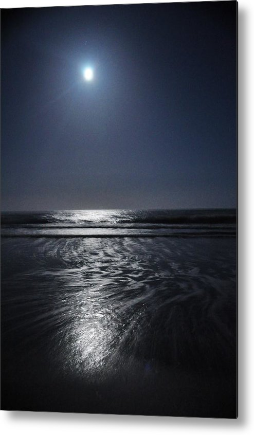 Outer Banks Metal Print featuring the photograph Moon Over Ocracoke by Jeff Moose