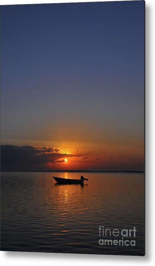 Morning Metal Print featuring the photograph Morning Boat by Wayan Suantara