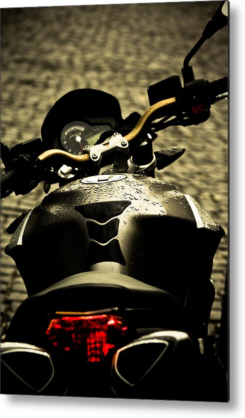 Motorcycle Metal Print featuring the photograph Motor by Buta Gabriel
