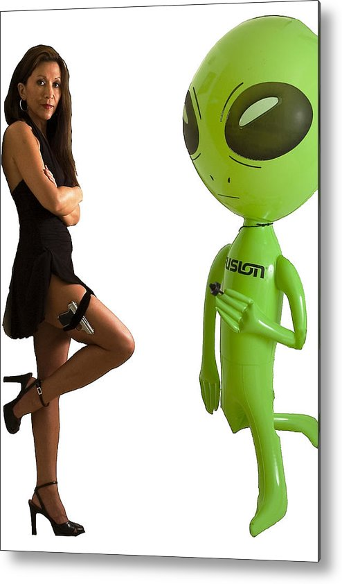 Model Metal Print featuring the photograph Mr. And Mrs Alien by Richard Henne