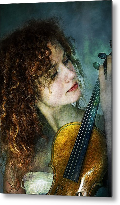 Girl Metal Print featuring the photograph Music My Love by Zygmunt Kozimor