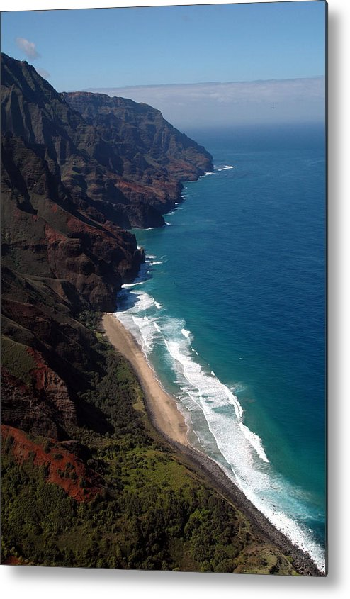 Hawaii Metal Print featuring the photograph Napali Cliffs by Kathy Schumann