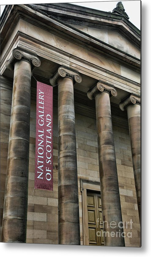 Scotland Metal Print featuring the photograph National Gallery Of Scotland by Chuck Kuhn