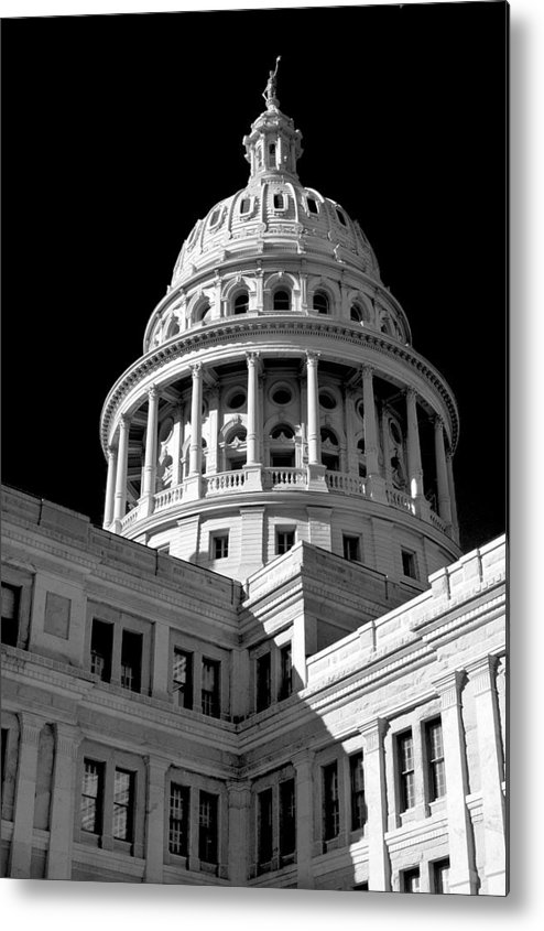 Gothic Metal Print featuring the photograph Near Infrared Image Of The Texas State Capitol by David Thompson